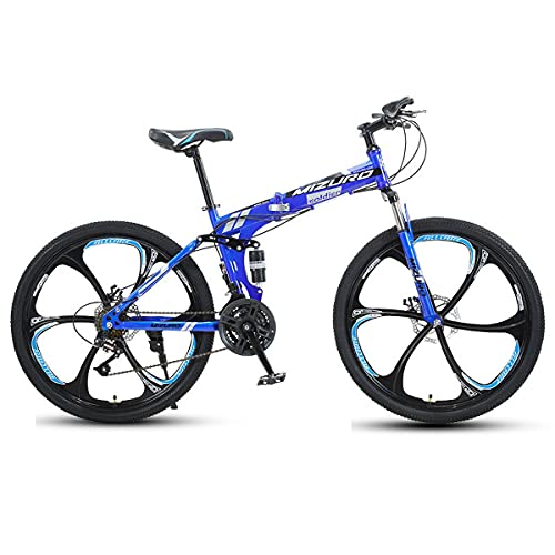 21/24/27 Speed Road Bike, Outdoors Cycling Racing Bicycle, High Carbon Steel Full Suspension City Commuter With Disc Brakes For Men And Women Mountain Bike 24/26 Inch