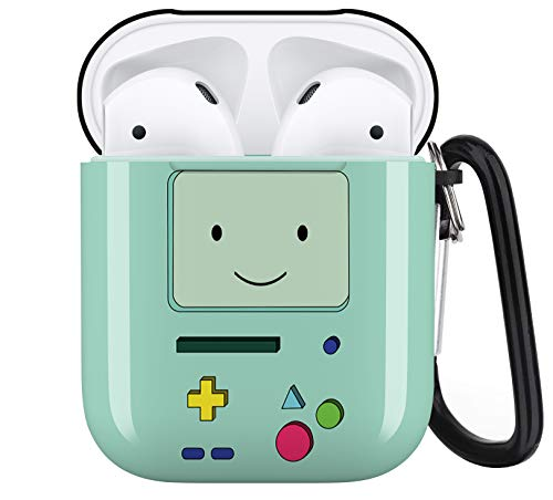 Adventure Time BMO Personalise Custom, AirPod Case Cover Compatiable with Apple AirPods 1st/2nd,Full Protective Durable Shockproof Drop Proof with Keychain Compatible