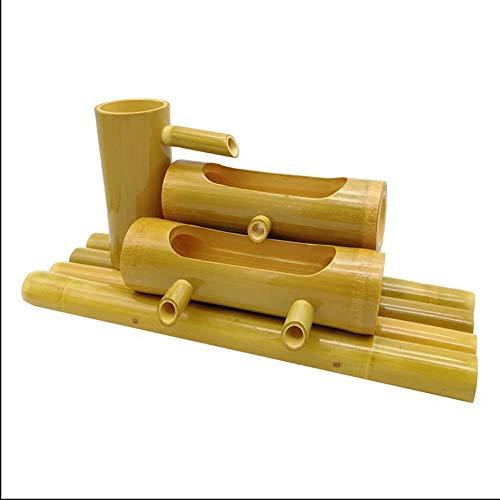 ZXvbyuff Mejores Productos Choice 23in Interior/Exterior de bambú canalón de la Fuente de Agua, Que Fluye característica del Agua Hecha a Mano del jardín del Agua de Funciones, Patio Trasero y jardí