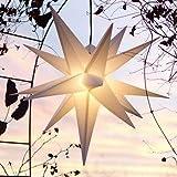 Mit LED Außenstern Stern Outdoor weiss - beleuchteter Stern 55-60 cm Weihnachtsstern Leuchtstern...
