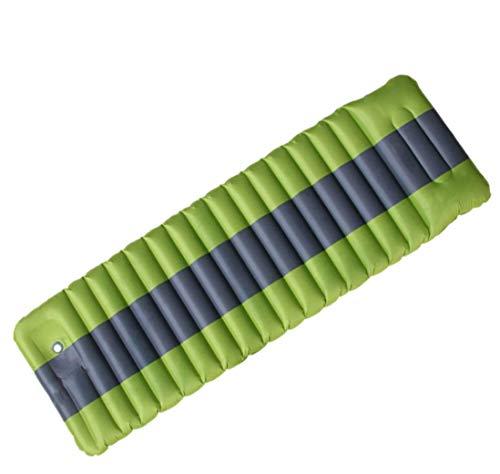 Silfrae - Colchón de camping con bomba de pie integrada para una sola persona para camping, senderismo, autoconducción, viajes y cama hinchable en casa (gris/gris)