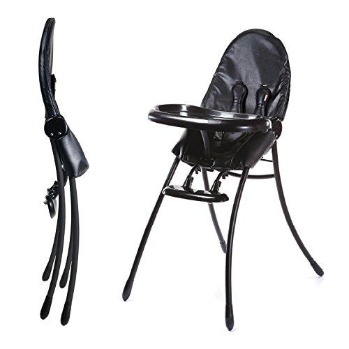 Bloom Nano Flat-Fold/Foldable Baby High Chair - Matt Black/Black