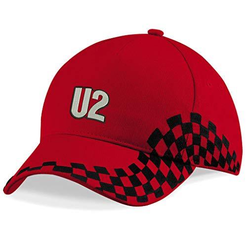 caprica91 U2 Rockband Bestickte Logo Baseball Cap Mütze — 1166VIP — Rot