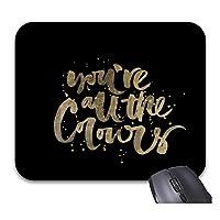 あなたはすべての色ゴールドマウスパッドトレンディオフィスデスクトップアクセサリーを再