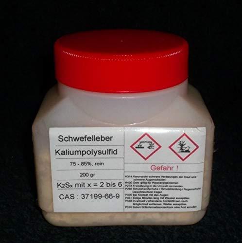 200 g di pelliccia di zolfo, policloruro di potassio K2Sx (75-85% puro) rame, argento decapito (lasciare invecchiare artificialmente).
