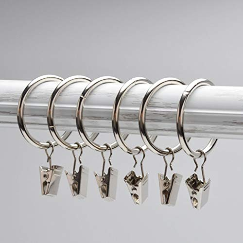 Eastery 100 Set Mini Edelstahl Fenster Vorhang Haken Metall Ringe Clips Einfacher Stil Mit Ösen New Hot Deep Coffee (Color : Silber, Size : Size)