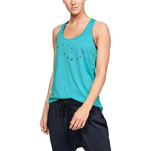 Under Armour Tech-Graphic Camiseta sin Mangas, Breathtaking Blue, XX-Large para Mujer
