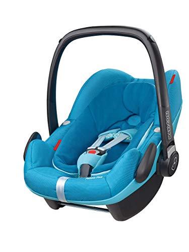 Maxi-Cosi Pebble Plus Babyschale, sicherer Gruppe 0+ i-Size Kindersitz (0-13 kg), nutzbar ab der Geburt bis ca. 12 Monate, passend für FamilyFix One Basisstation, mosaic blue