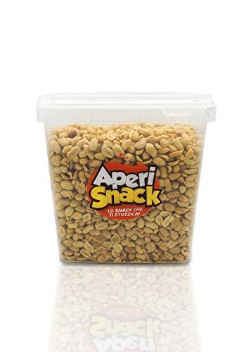 Aperisnack® - AP04.001.03 – Arachidi Tostate e Salate Secchiello Large da 3kg . Pratico secchiello salva freschezza.