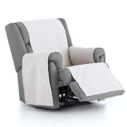 JM Textil Sesselschoner Relax Leiva, 1 Sitzer (55cm), Farbe: Weiß (00)