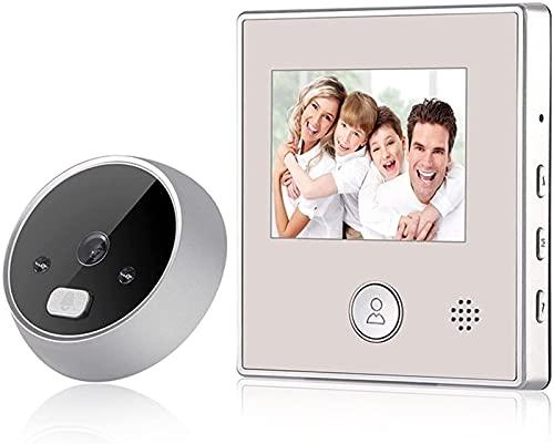 DZCGTP Video Nueva cámara de Puerta con Pantalla de 2,8 Pulgadas Grabación de Foto/Video 120 Grados IR Puerta Nocturna Timbre electrónico Mirilla Visor Camer