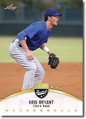 Kris Bryant 2014 Leaf Gold Rookie Card 2015 Rookie of The Year product image