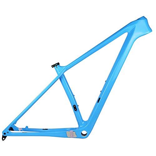 PPLAS 2021 Nuevo Marco de Carbono MTB 27.5er 29er Marco de Bicicleta de montaña de Carbono 148x12mm o 142 * 12 mm MARCHOS DE Bicicleta MTB (Color : Sky Blue Color, Size : 19in Glossy 148x12)