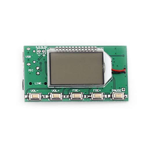 HiLetgo Digital FM Transmitter Module FM Transmitter Stereo Frequency Modulation DSP PLL 76.0-108.0MHz Multi-Function Frequency Modulation with LCD Display