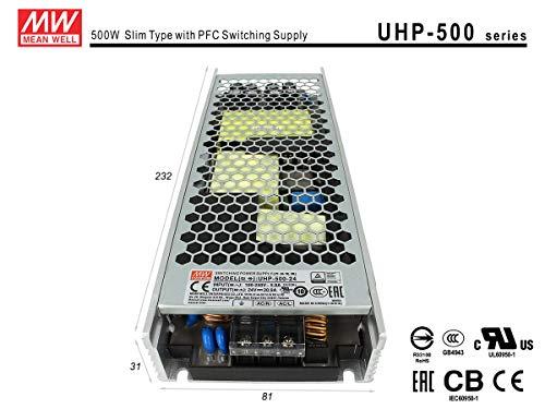 LEDLUX MW75007 voeding MeanWell CV 24 W 20,9 A zonder ventilator UHP-500-24 transformator AC 220 V DC 24 V voor LED-lampen binnen