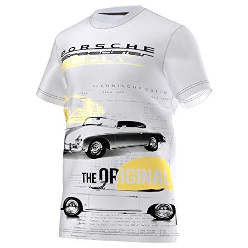 adidas Originals Herren Graphic Porscher Speedster Tee Shirt S00363 Offwhite, Größe:S, Farbe:Weiß