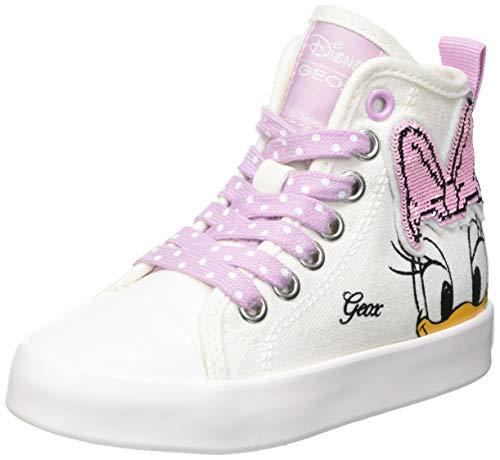 Geox JR CIAK Girl F, Zapatillas, Color Rosa y Blanco, 29 EU