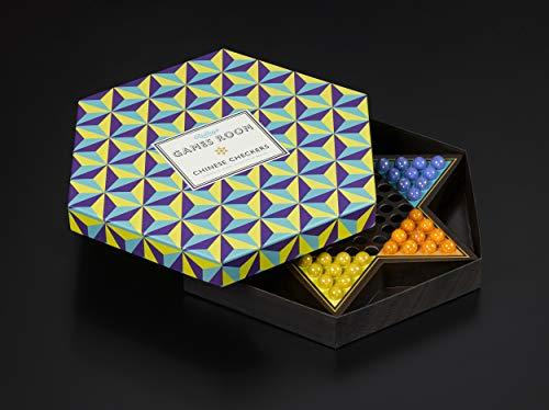 Ridley's Games Sala | Juego de Mesa de Damas Chinas | Elegante Caja Hexagonal