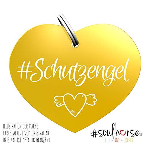Soulhorse Schutzengel Gold Kleiner Glücksbringer Marke Anhänger für Pferdezubehör Halfter Trense Zaumzeug Sattel Vorderzeug