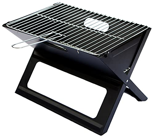 Direct Designs - Notebook Folding Grill - Portable Picnic BBQ with Chrome Plated Cooking Grid...