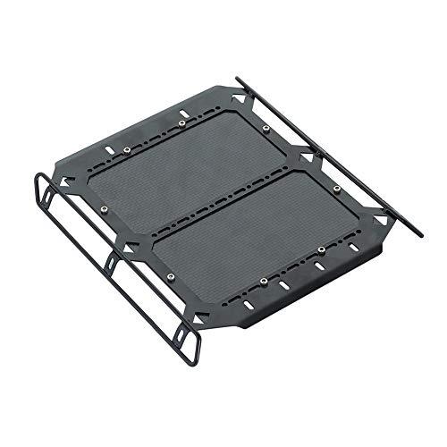 Senmubery Portaequipajes de Metal para Techo con Tablero de Fibra de Carbono para 1/10 RC Crawler TRX6 G63 TRX4 G500, Piezas Accesorios