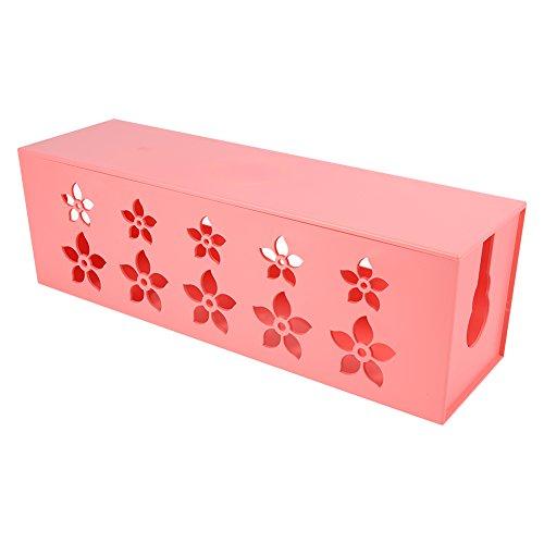 Wire Box - 3 Größen Pink Praktische Steckdosenleiste Steckdose Aufbewahrungskoffer Kabel Kabel Kabel Ordentlich Organizer Box(L 41 * 13 * 12)