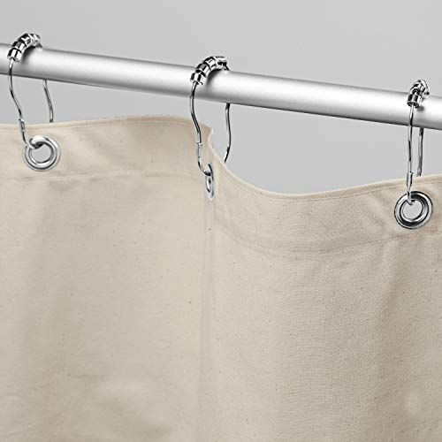 """Bean Products Organic Cotton Shower Curtain (Natural), [70"""" x 74""""]   All Natural Materials - Made in USA   Works with Tub, Bath and Stall Showers"""