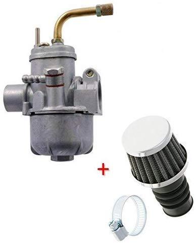 SET: 14 mm Tuning BING carburateur + Ø 19 mm sport luchtfilter voor Hercules, Puch, Zündapp, Kreidler KTM DKW bromfiets (M-89803)