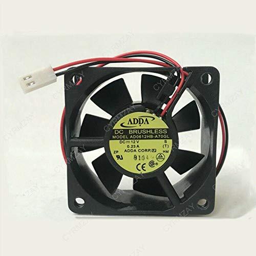 CYRMZAY Compatible para ADDA 6CM 60 * 60 * 25MM 12V 0.23A AD0612HB-A70GL 2Pin Ventilador