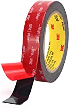 Double Sided Tape, 3M Heavy Duty Mounting Tape, Waterproof VHB Foam Tape, for Indoor Outdoor Car LED Strip Lights, and Home Office Decor (Black,1 in x 15.6ft)