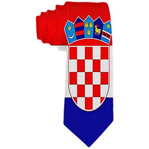 Herren Krawatte Kroatien Flagge Polyester Seidenkrawatte