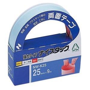 (まとめ) ニチバン ナイスタック 両面テープ 強力タイプ 大巻 25mm×9m NW-K25 1巻 【×10セット】 〈簡易梱包