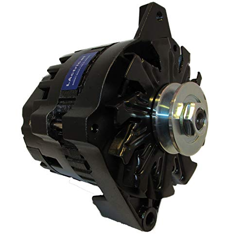 LActrical High Output Black Color Custom Alternator fits Chevy GM GMC Caddy Olds 220 Amp 1-Wire 65-85