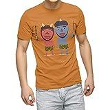 igsticker プリント Tシャツ メンズ 男性 M サイズ size おしゃれ クルーネック らくだ色 キャメル 男女兼用 t-shirt 015345 節分の日 節句 季節 鬼