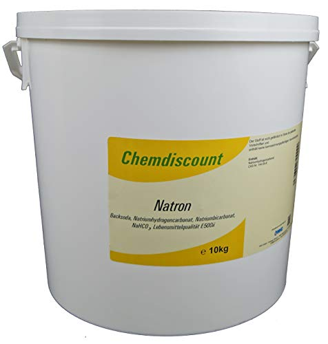 10kg Natron Lebensmittelqualität E500ii (Backsoda Natriumbicarbonat), versandkostenfrei