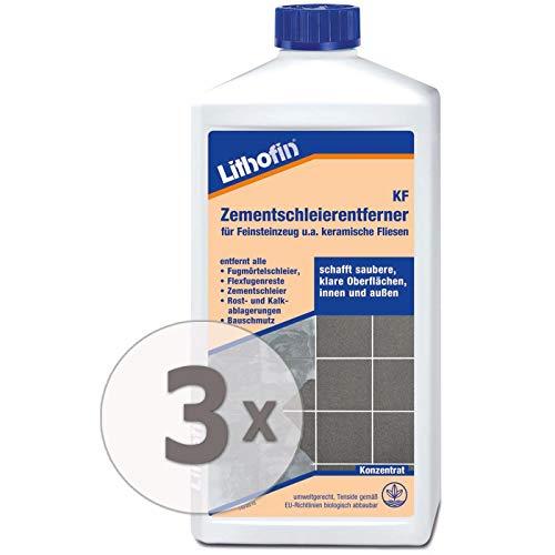 Lithofin KF Zementschleierentferner 3 l - Der geruchsmilde Reiniger speziell für den Innenbereich und alle keramischen Beläge