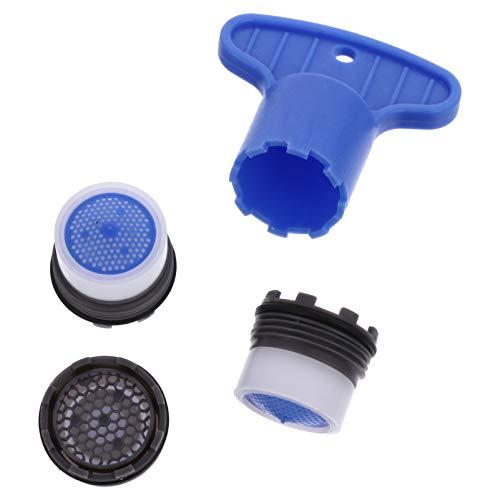 Angoily 6 Piezas Pieza de Repuesto Del Grifo Insertar Filtro Llave de Extracción Herramienta Aireadores Conjunto de Limitador de Flujo de Ahorro de Agua para Baño O Cocina