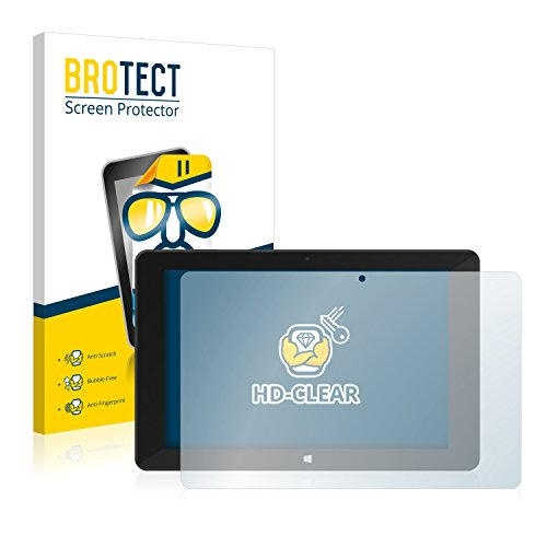 BROTECT Schutzfolie kompatibel mit TrekStor SurfTab Duo W1 (2 Stück) klare Bildschirmschutz-Folie
