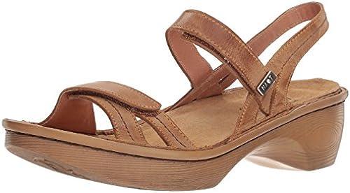 NAOT damen& 039;s Brussels Wedge Sandal, Vintage Camel Wood Sole, 35 Medium EU (4 US)