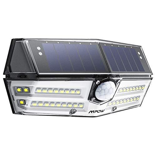 Mpow [Version Amélioré] 40 LED Lampe Solaire Extérieur Etanche Détecteur de Mouvement Eclairage Extérieur 270 ° Grand Angle/LED Solaire pour Pati, Jardin, Cour, Chemin, Escaliers, Clôture, Garage etc