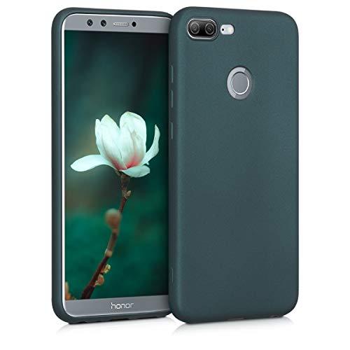 kwmobile Hülle kompatibel mit Huawei Honor 9 Lite - Handy Hülle Metallic Petrol