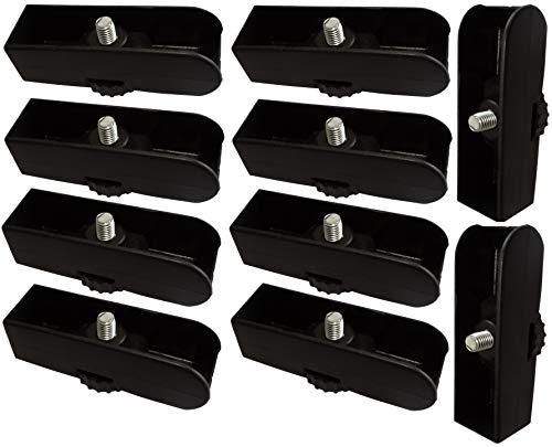 AERZETIX: 10x Patas pies ajustables regulables para paneles madera tablero de aglomerado melamina mdf osb (25mm)