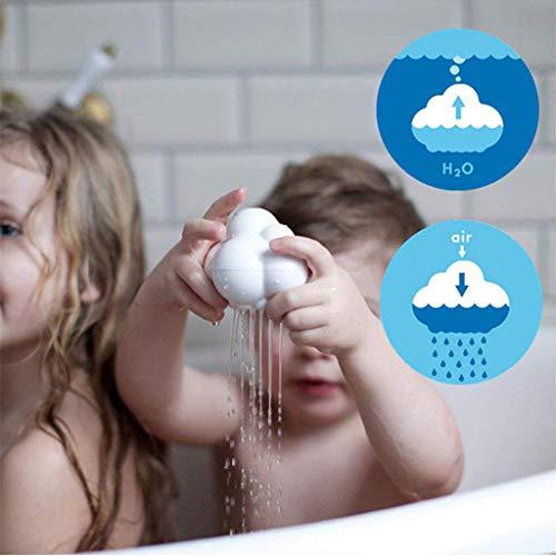 Nubes Juguetes del Baño, Los Niños Jugando En El Juguete, Juguetes para El Agua De Lluvia De Ducha del Cuarto De Baño Pequeñas Nubes, Las Nubes Y La Lluvia Baño del Bebé del Bebé,One,10 * 7.5cm