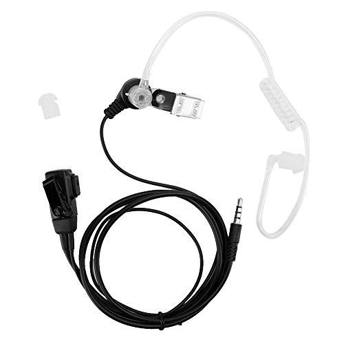 Auriculares de Radio bidireccionales, 2 Piezas, 1 Pin, 3,5 mm, conducto de Aire, PTT, Auriculares con micrófono, cancelación de Ruido para Motorola 1 Pin Walkie Talkies para teléfonos INT