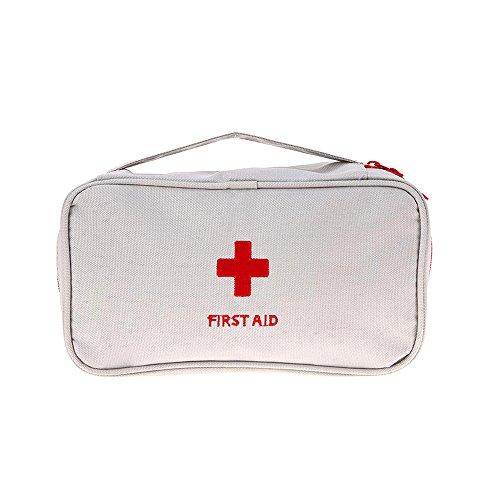 Romote Outdoor Camping Wandern Überleben Tasche Reise Notfall Rettung Erste-Hilfe-Kit Reise Medizin Tasche leer Medikamente Veranstalter, Lagerung von Vitaminen 1pcs Grau