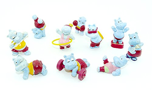 Kinder Überraschung Satz Happy Hippos im Fitness Fieber von 1990 aus dem Ü-Ei (Komplettsätze)