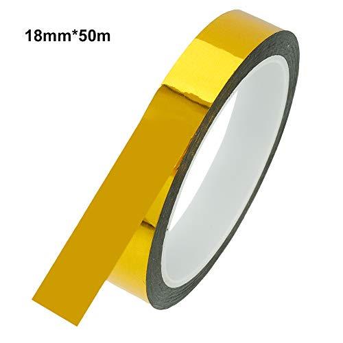 miuse 1 Rolle Goldfolie Washi Tape Sammelalbum Klebeband Bastelbedarf Bastelklebeband(18mm*50m)