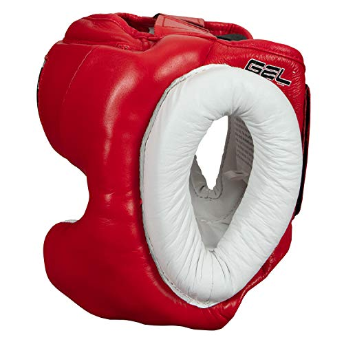 TITLE Gel World Traditional Training Headgear, Red, Regular