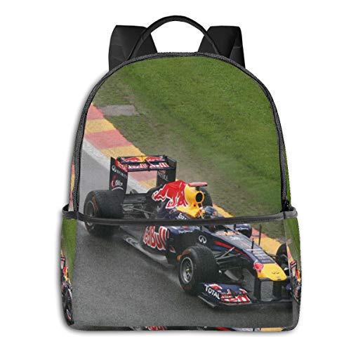 School Backpack, Racing Car Sports Car F1 Competition 1 Book Bag Bookbag Travel Casual Rucksack Daypack for Teenagers Girls Boys Man Women