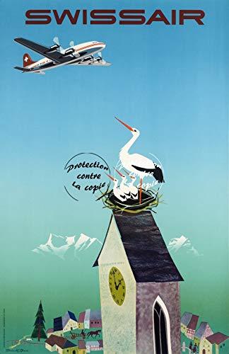 Herbé TM SWISSAIR Poster / Kunstdruck, 40 x 60 cm * D1, Vintage/Antik/Retro